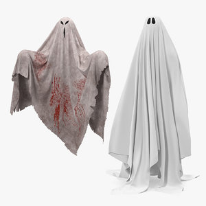 ghosts bedsheet sheet model