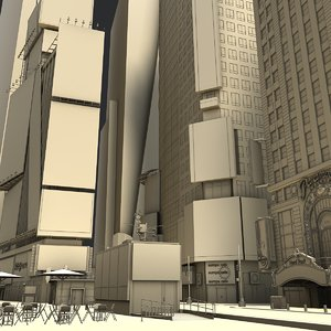 3D square buildings morgan
