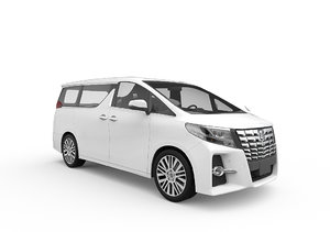 3D 2018 toyota alphard model
