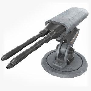 laser turret 3D
