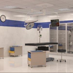 3D interior scene surgery room