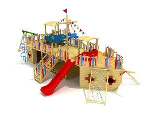 ship wood playground 3D