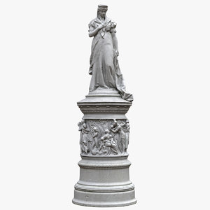 queen louise prussia statue 3D model