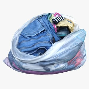 garbage bag clothes 3D model