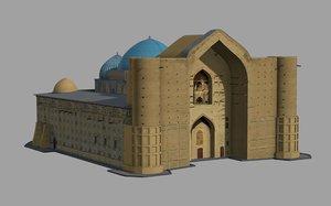 akhmet yassawi mausoleum 3D model
