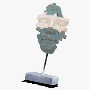 face mask statue 01 3D model