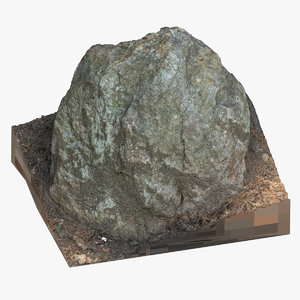 3D forest rock 05 raw model