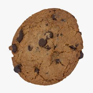3D hazelnut cookie 01 raw