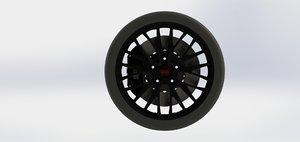 3D subaru wrx sti wheel