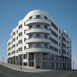 urban apartment building 3D model