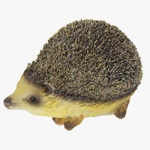 3D hedgehog statue decoration 01