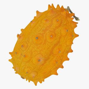 horned melon kiwano 02 3D