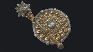 3D model pbr fantasy morgenstern shield