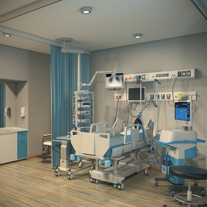 private icu room 3D model