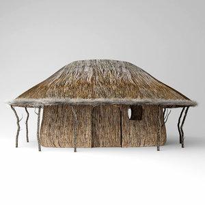 thatch hut 3D model