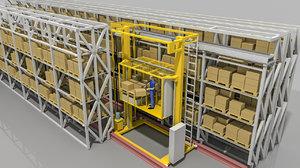 3D model warehouse elevator