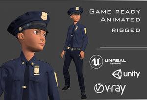 policewoman policeman - model