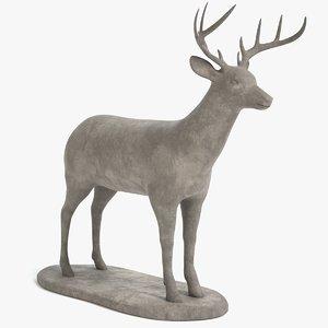 3D deer statue