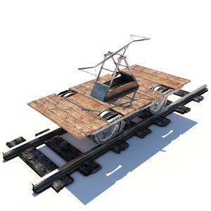 3D handcar car