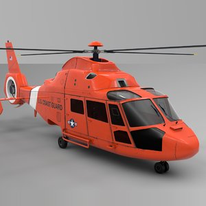 3D coast guard airbus dauphin