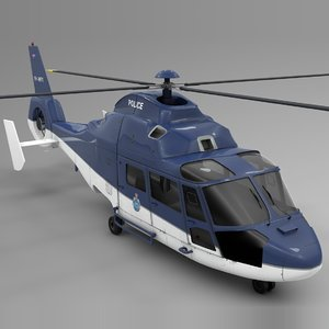 australia police airbus dauphin 3D