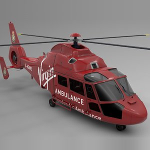 3D london air ambulance viirgin