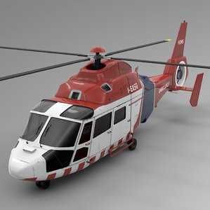 australia ambulance hems airbus 3D model