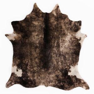3D model wool leather cowhide rug
