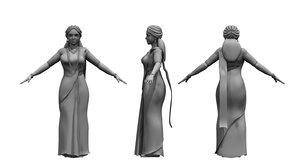 3D india woman