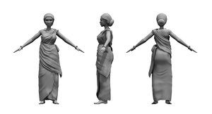 india woman 3D model