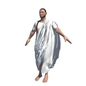 3D model roman senator toga