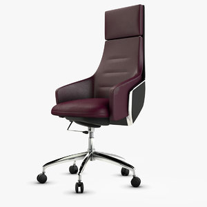 3D leather office armchair
