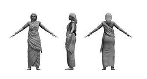 indian woman 3D model