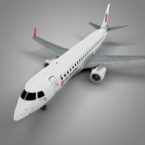 3D wdl aviation embraer190 l644 model