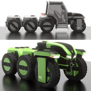 modular tractor 3D