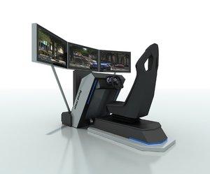 3D car driving simulator model