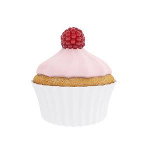 cake cupcake pink 3D model