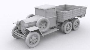 gaz aaa truck 3D model