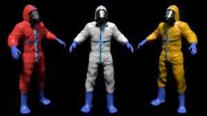3D hazmat worker suit body