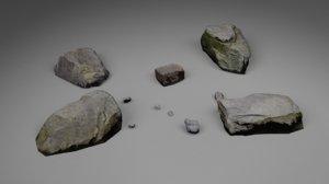 3D model rocks pack