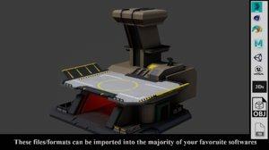 sci fi land pad 3D model