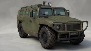 3D model russian vehicle gaz tigr