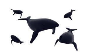 simple whale 3D model