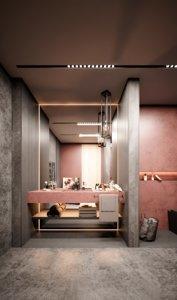 bathroom interior scene 5srw model