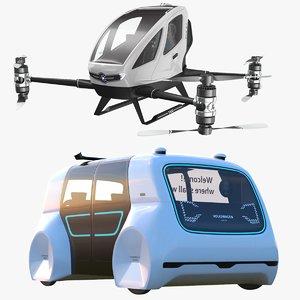 autonomous vehicles copter bus 3D model