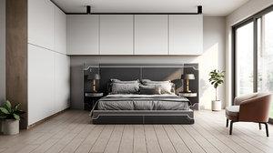 bedroom interior corona 3D model