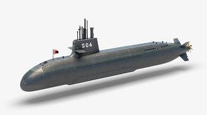 japan submarine ss - 3D model