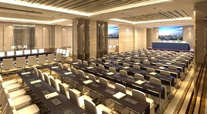 conference hall 3D model