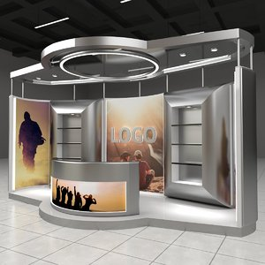 3D exhibition expo stand