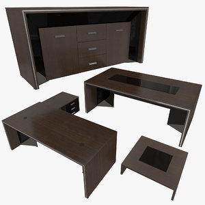 office table set 3D model